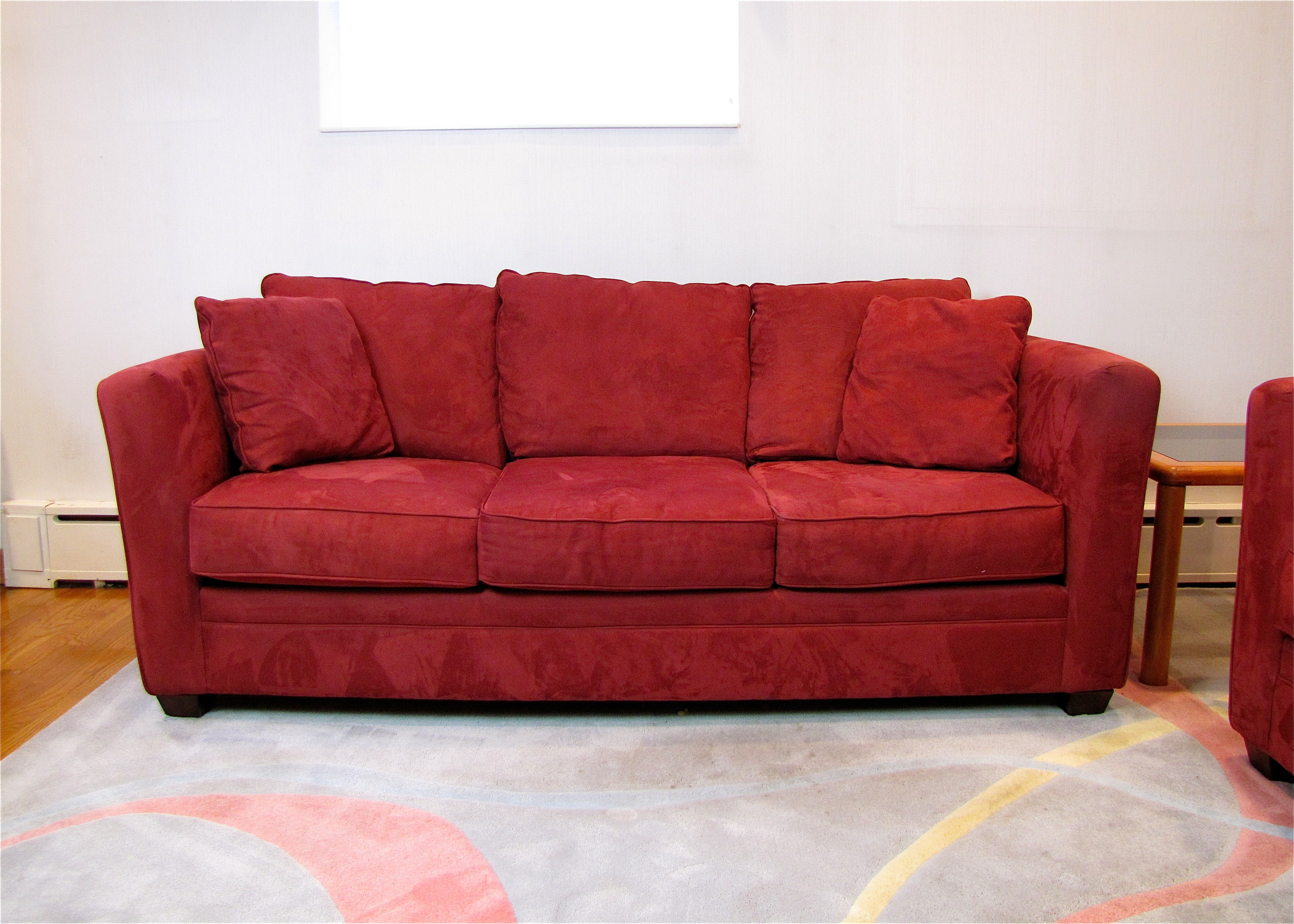 Bauhaus Pillow Back Micro Suede Couch ...