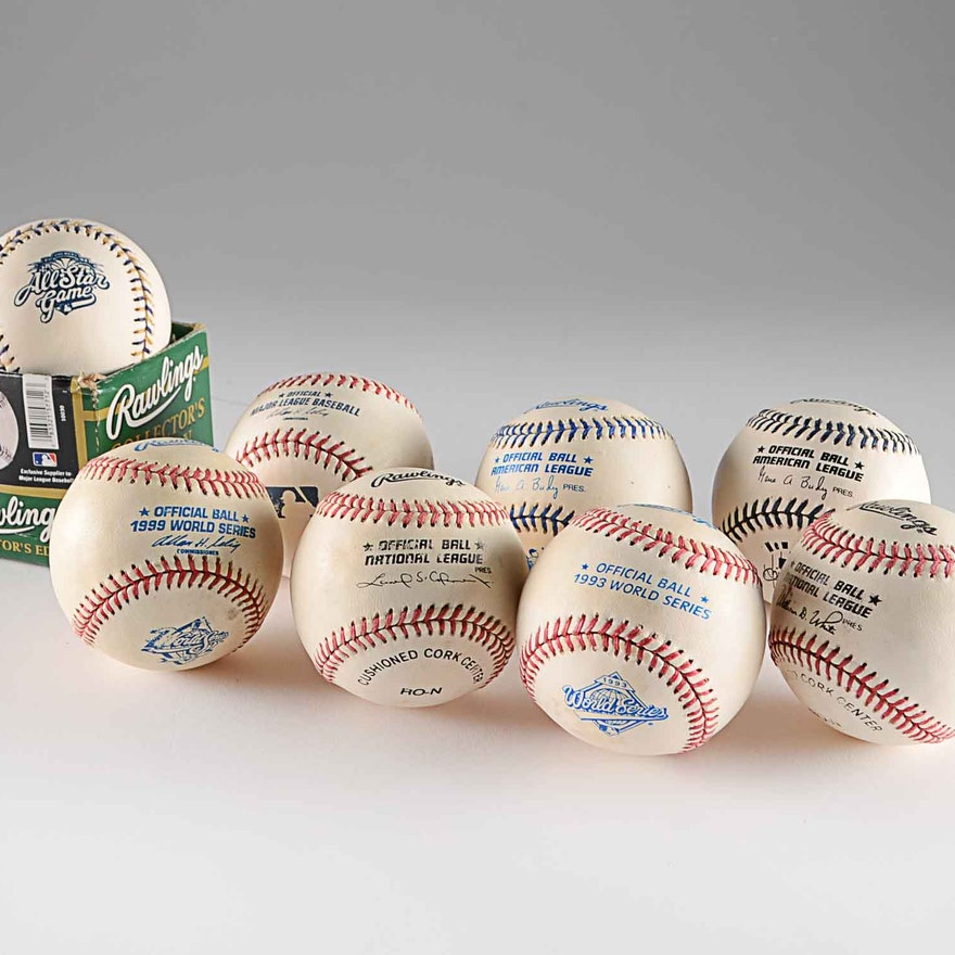 8 Official Rawlings Major League Baseballs All Star World Series Game Used Ebth