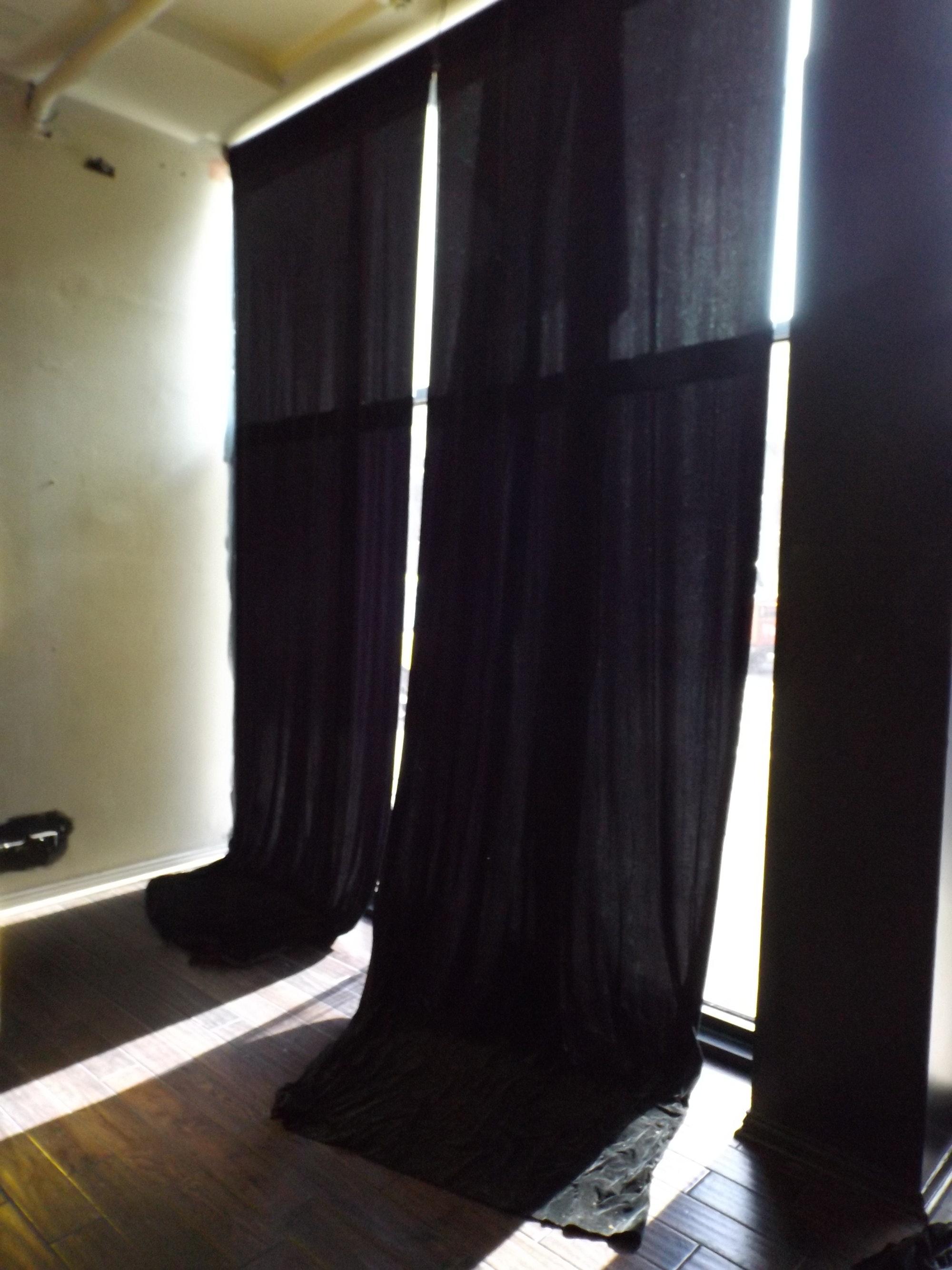 Dramatic Long Black Velvet Drapes