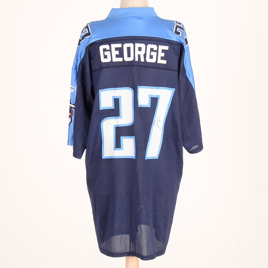 1995 Heisman Trophy Winner, Eddie George Signed NFL Tennessee Titans