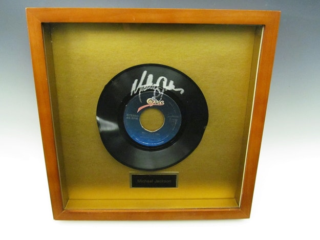 Michael Jackson Autographed Record