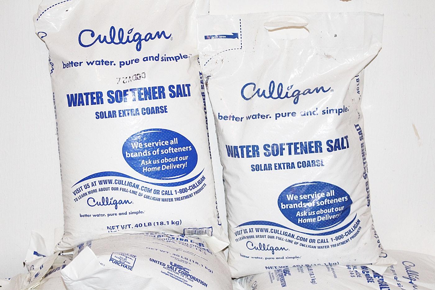 19 bags of culligan water softener salt ebth
