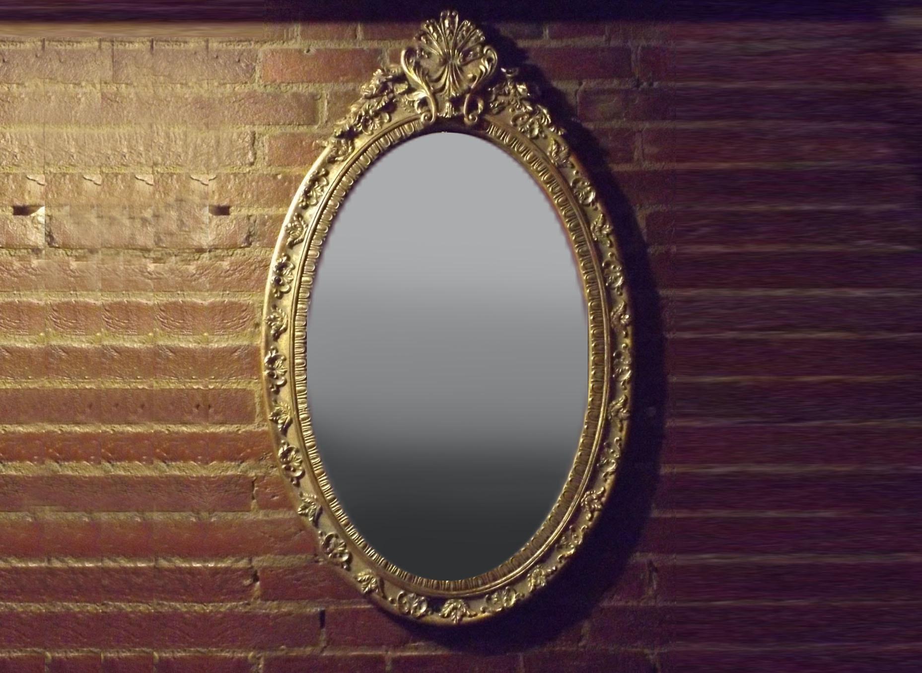 Ornate Gilt-Framed Mirror