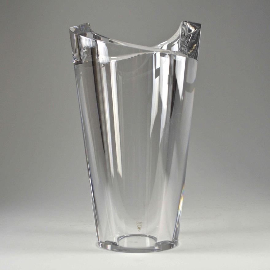 Orrefors Sweden Crystal Vase Ebth