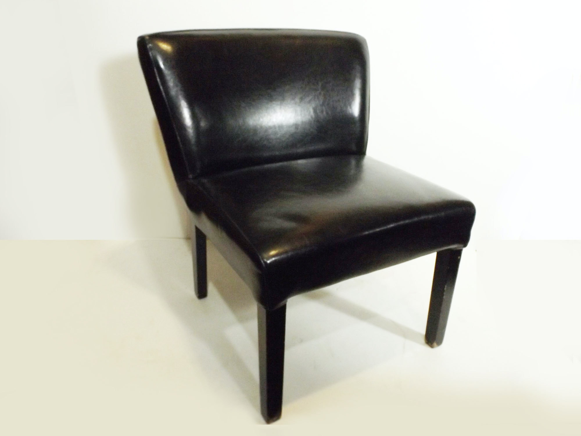 Modernist Faux Leather Chair