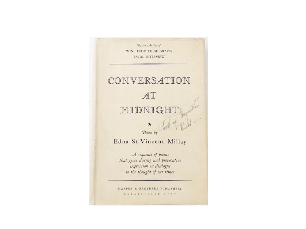 """Conversation At Midnight"" Poems by Edna St. Vincent Millay, Published 1938"