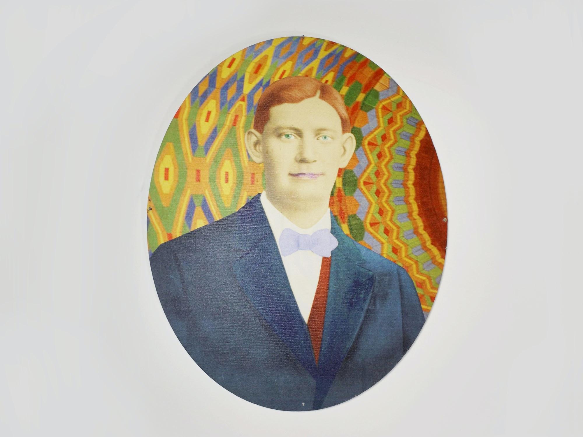 Andrew VanSickle Original 'Frank Baron' Portrait on Canvas