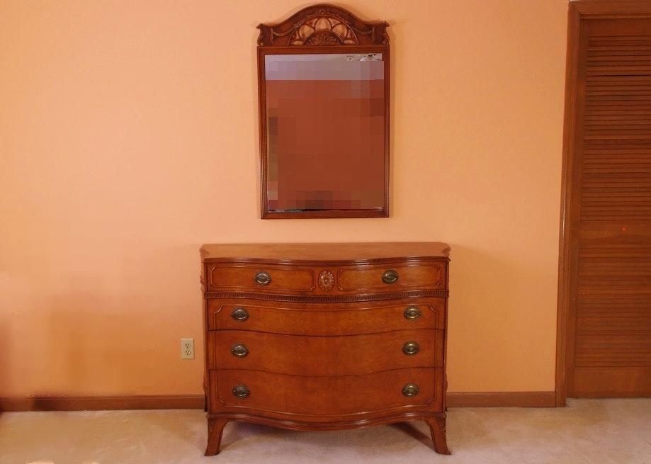 Hepplewhite Style Myrtle Dresser and Mirror