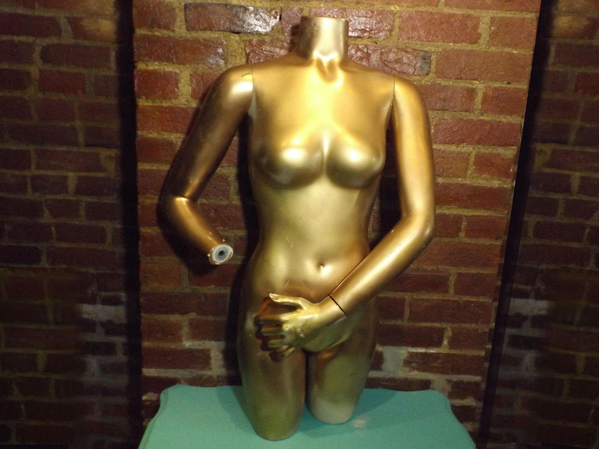 Gilded Female Torso Mannequin