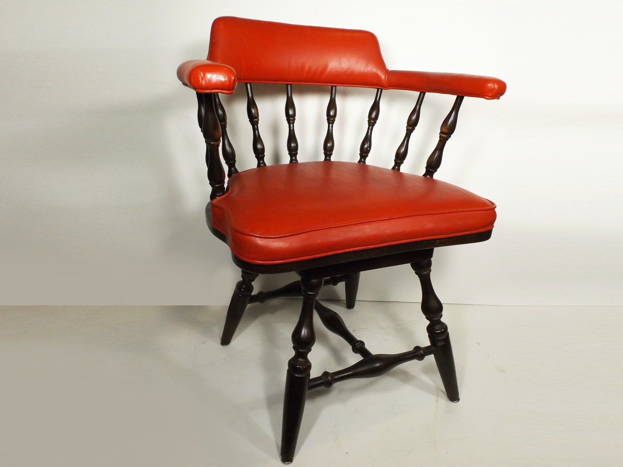 Red Vinyl Captain's Chair