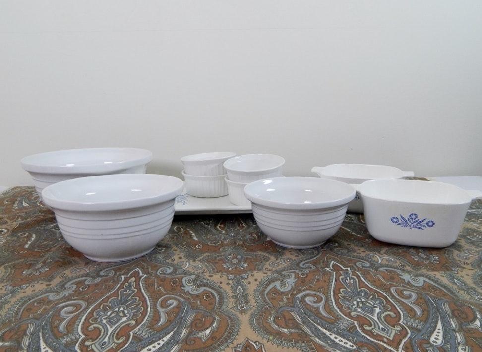 Corning Ware and Mixing Bowls