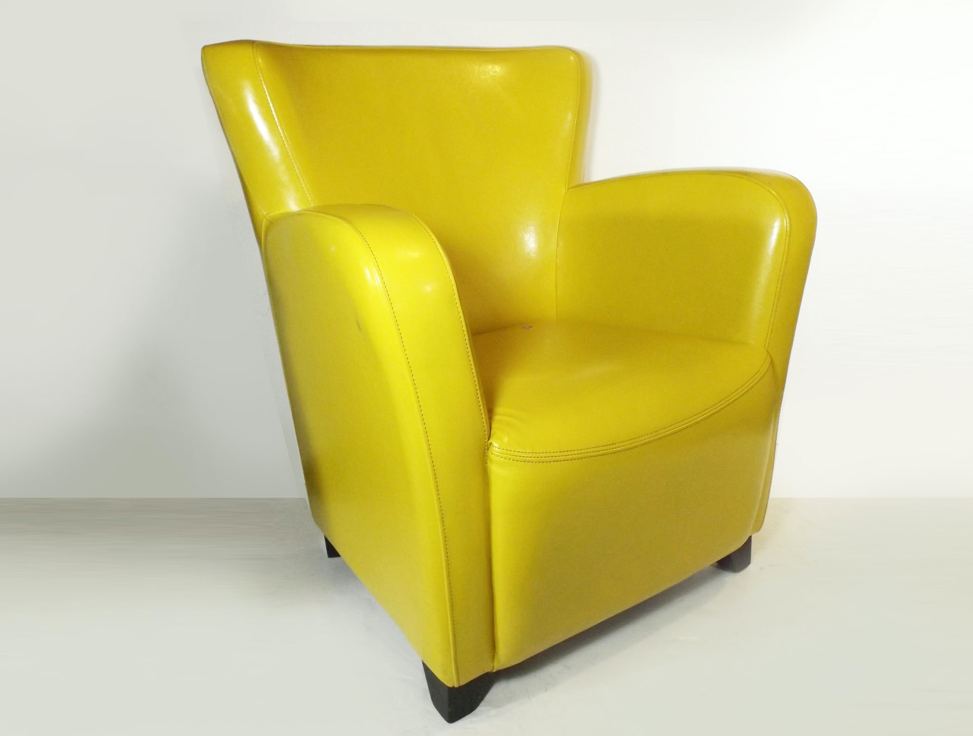 Canary Yellow Art Deco Style Club Chair