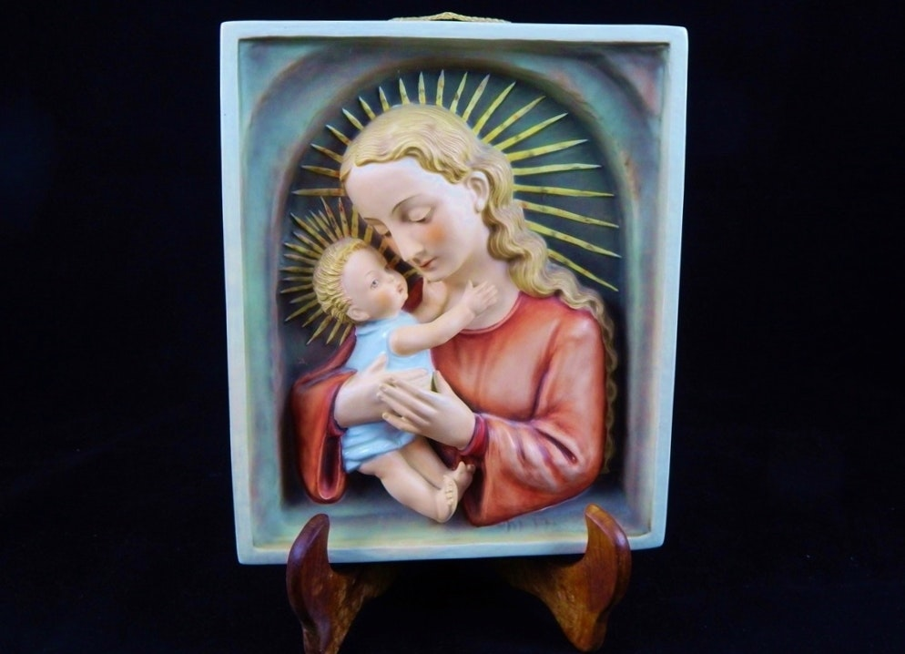 Large Hummel Madonna Plaque