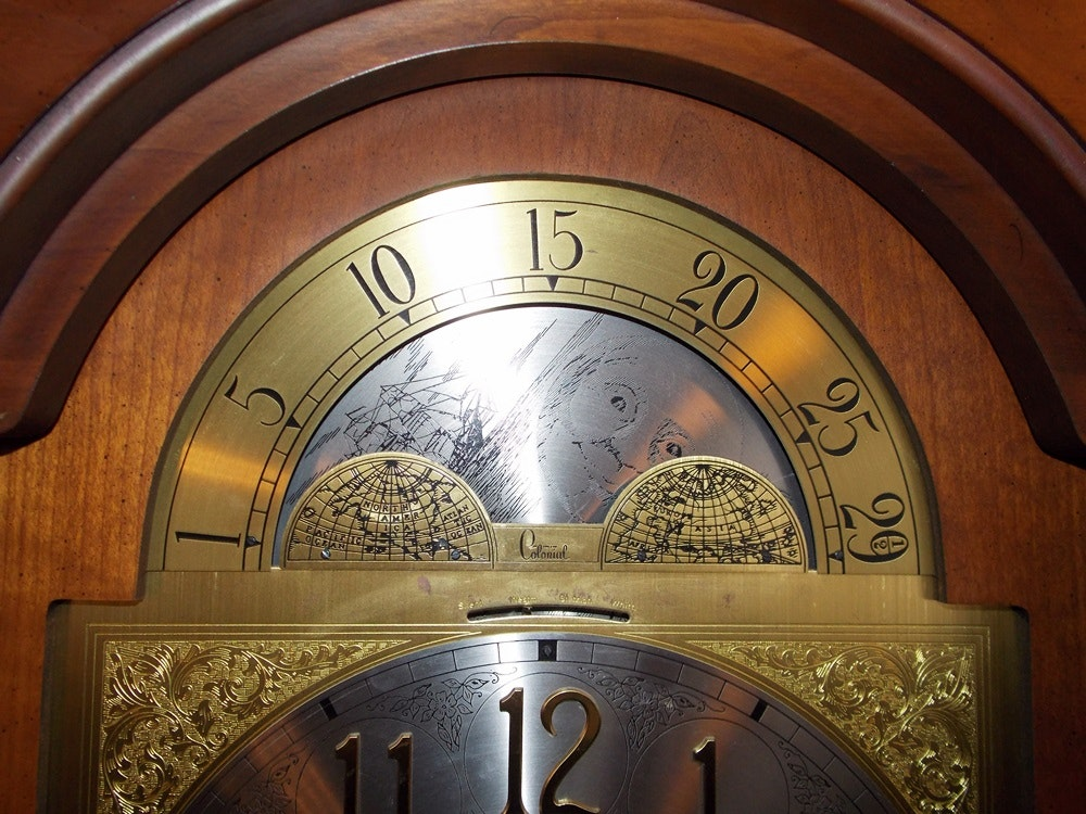 colonial of zeeland grandfather clock manual