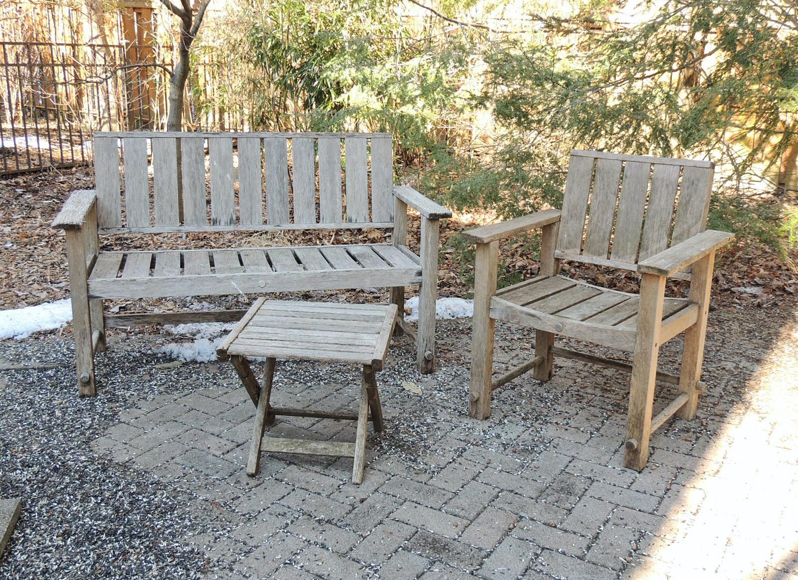 michael graves teak outdoor furniture ebth