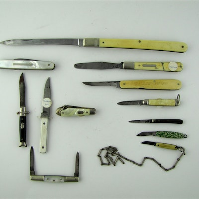 pleasant cool knives. Antique Specialty Knives Lot 1 and Swords Auction  Vintage in
