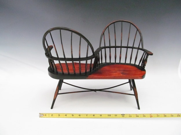 Miniature Windsor Sack Back Courting Bench ...