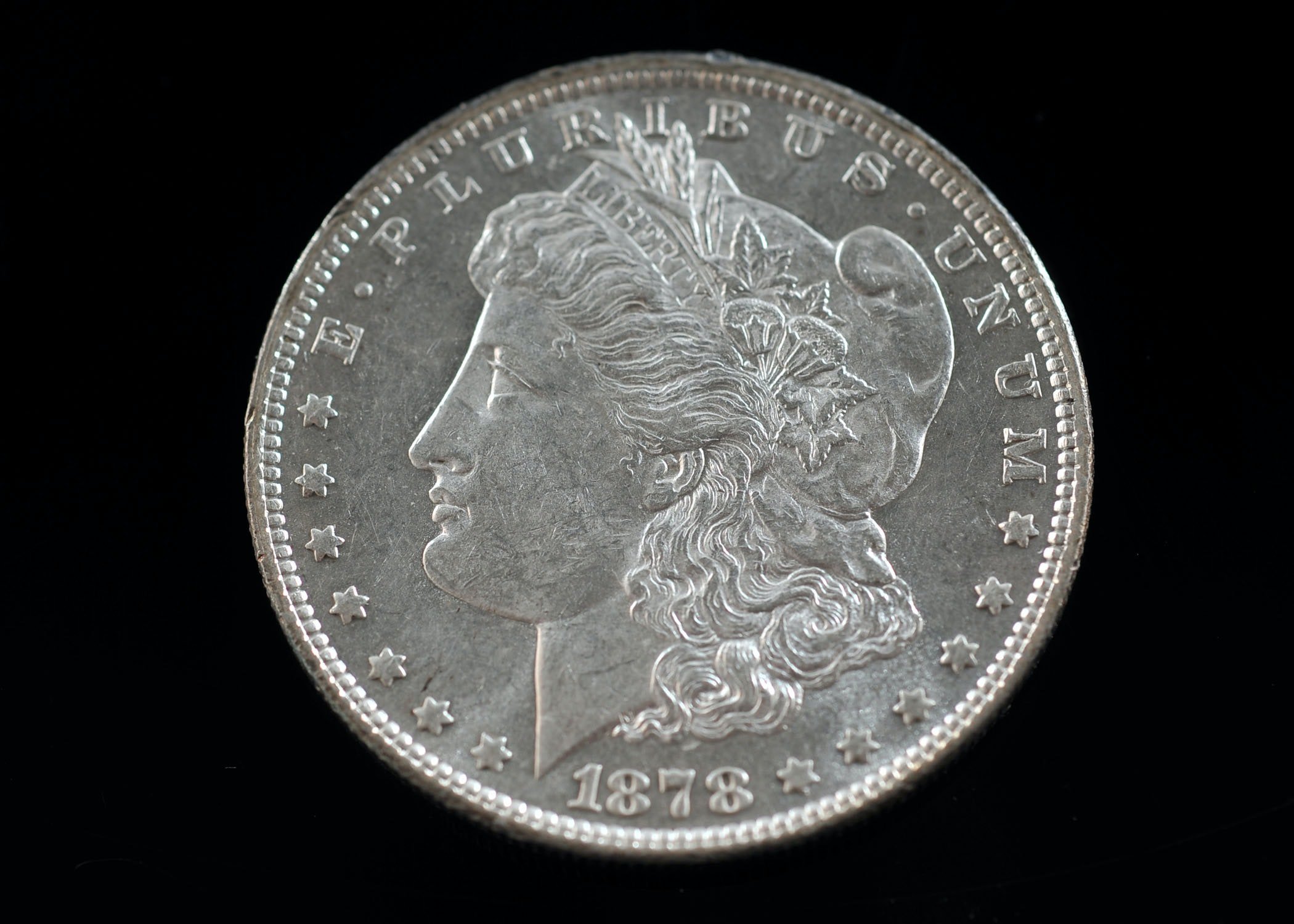 First year of issue 1878 Morgan silver dollar