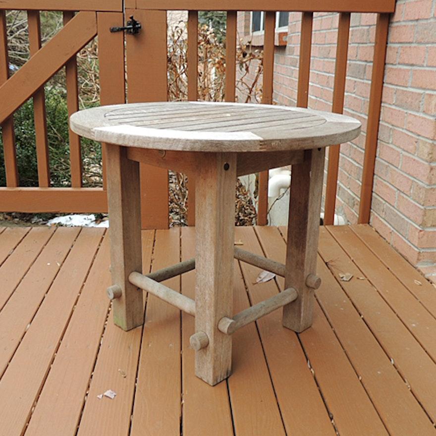 Michael Graves Teak Outdoor Furniture Small Patio Table EBTH - Small teak patio table