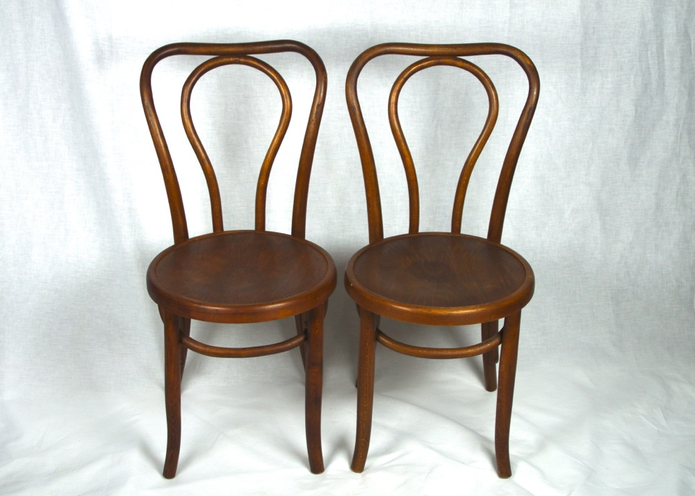 bentwood bistro chair. Two Antique Oak Bentwood Bistro Chairs Chair
