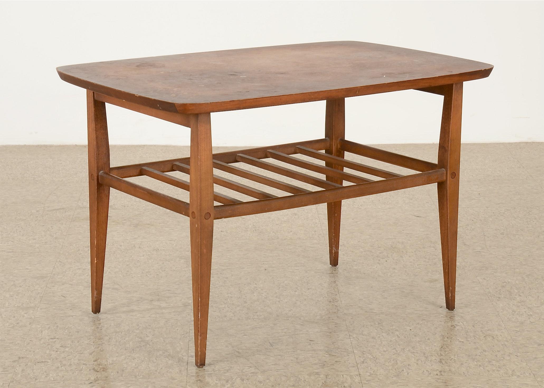 Lane Danish Mid Century Modern Walnut Side Table ...