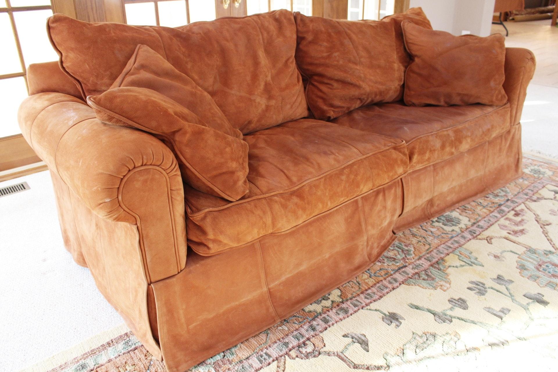 Expressions Custom Furniture Leather Sofa In Cinnamon ...