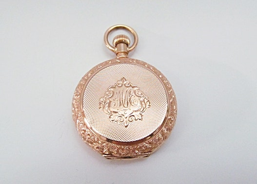 Antique 14K Rose Gold Pocket Watch
