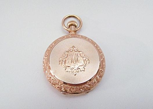 Antique 14K Rose Gold Pocket Watch