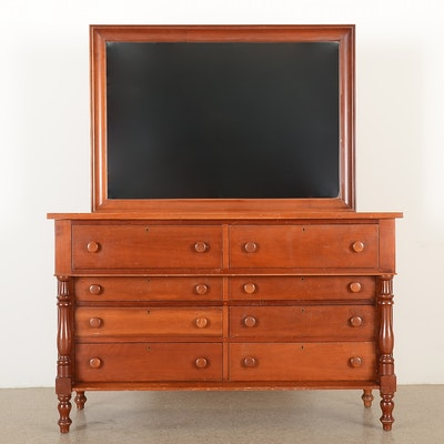 Solid cherry handmade dresser and mirror by campbellsville furniture company