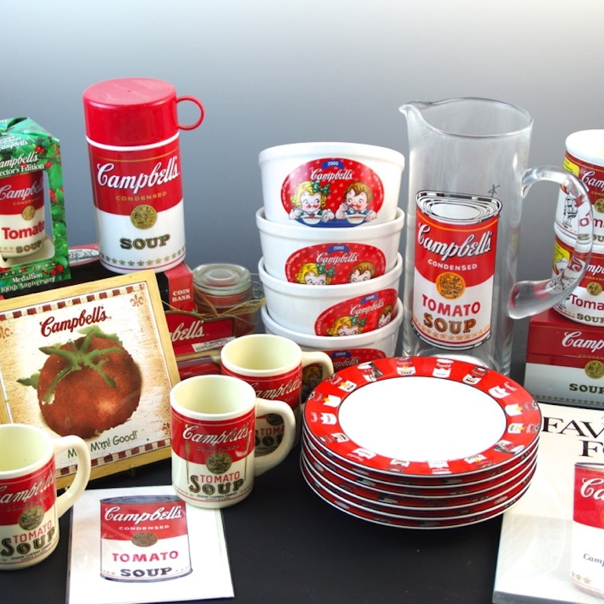 Large Campbell Soup Decor Collection
