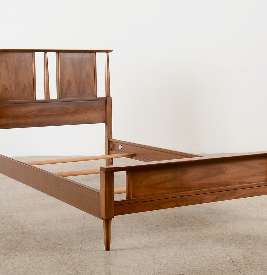 mid century modern bed frame dixie furniture