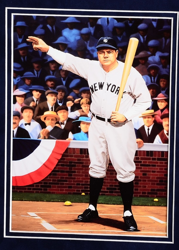 Babe Ruthgabby Hartnettal Capone Baseball Framed -7479