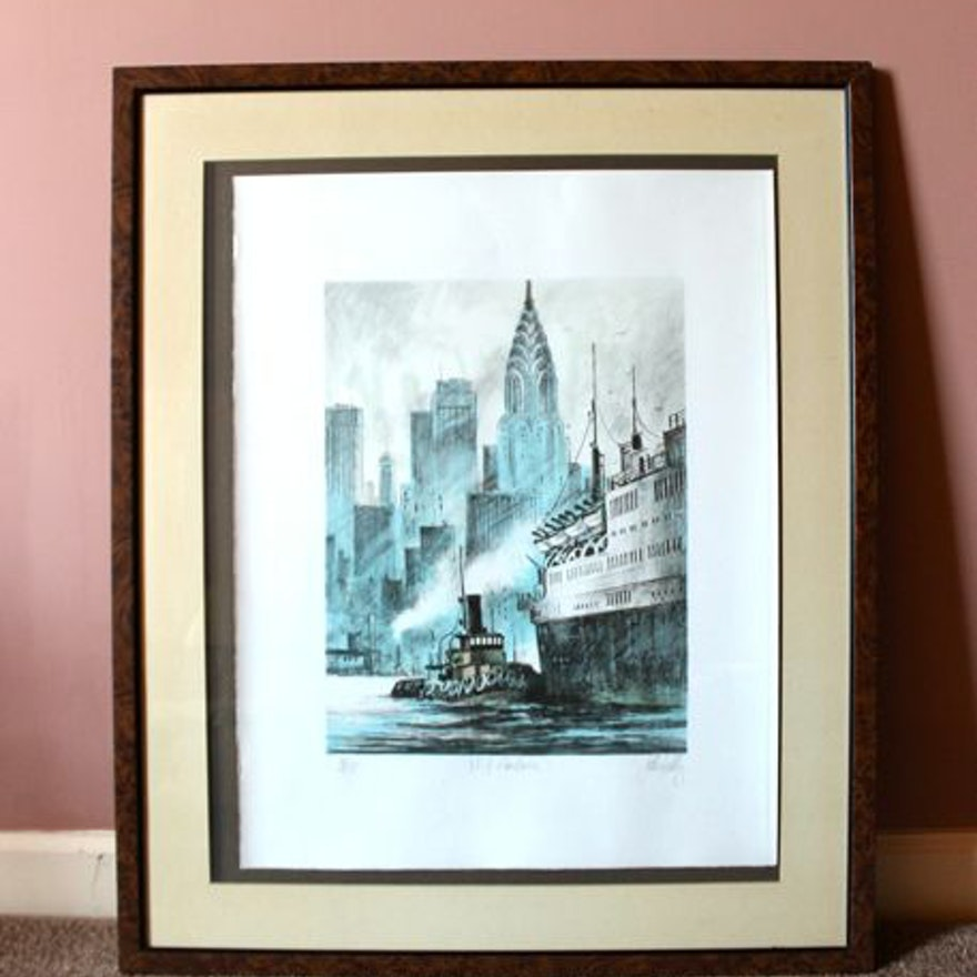 Signed and Numbered Lithograph Print of