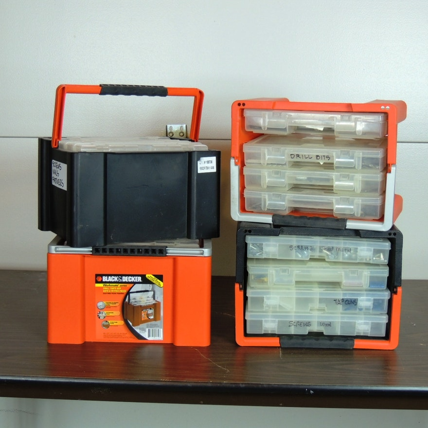 Black And Decker Workmate Small Parts Boxes Set Of Four Ebth