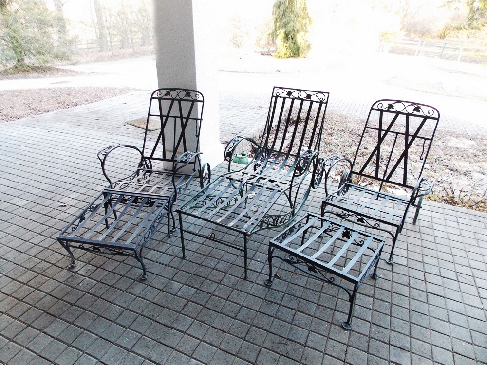salterini outdoor furniture. Vintage (1940\u0027s) Salterini Patio Chaise Lounge And Armchairs With Ottomans  Salterini Outdoor Furniture M