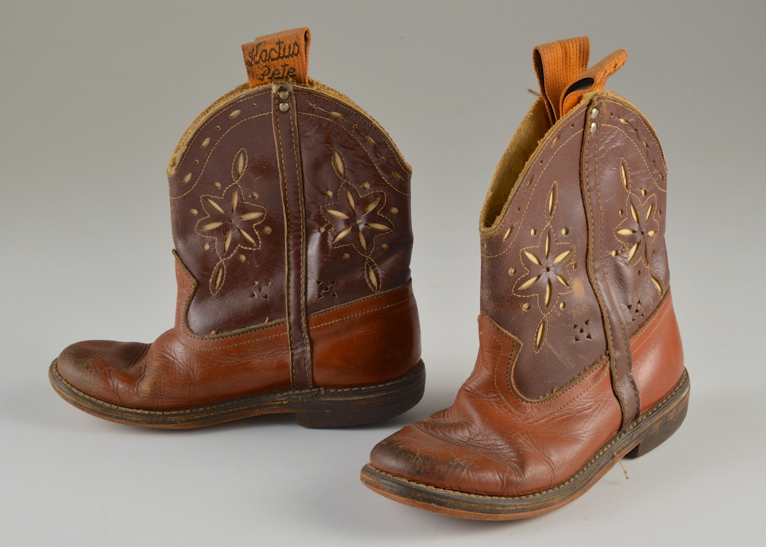 kactus pete brown leather boots ebth