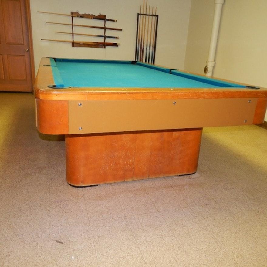Retro Pool Table EBTH - Retro pool table