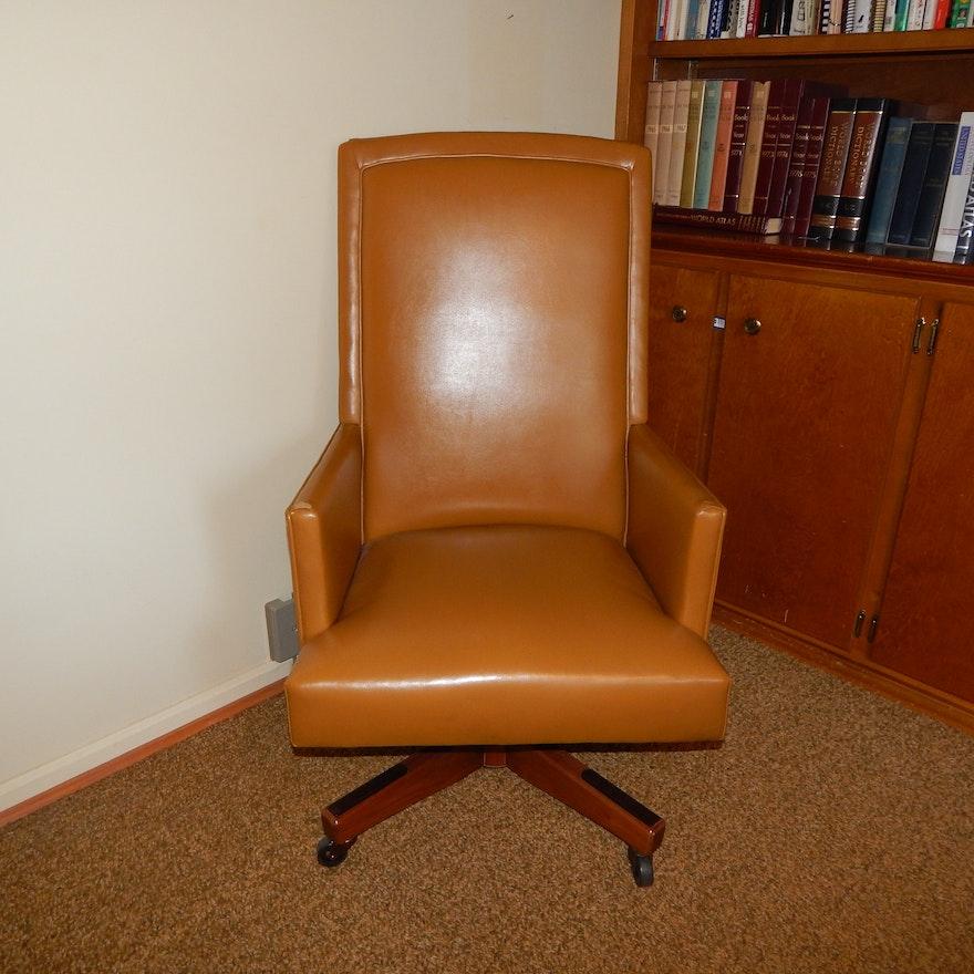 vintage vinyl office desk chair ebth