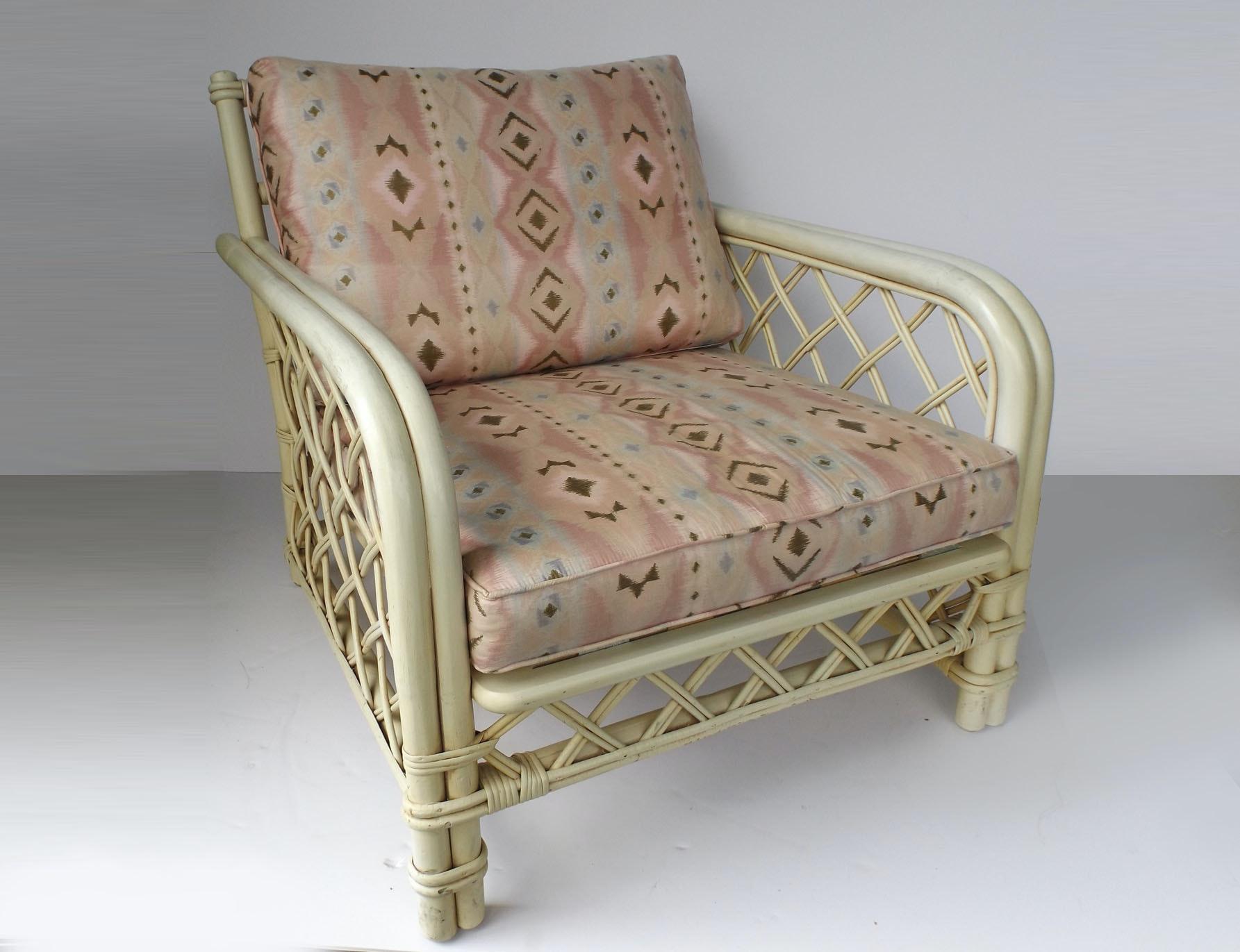 Elegant Mid Century Ficks Reed Rattan Chair ...