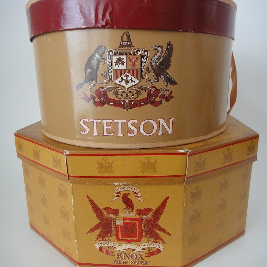 28ee94e623dfc Vintage Stetson   Knox Hat Boxes