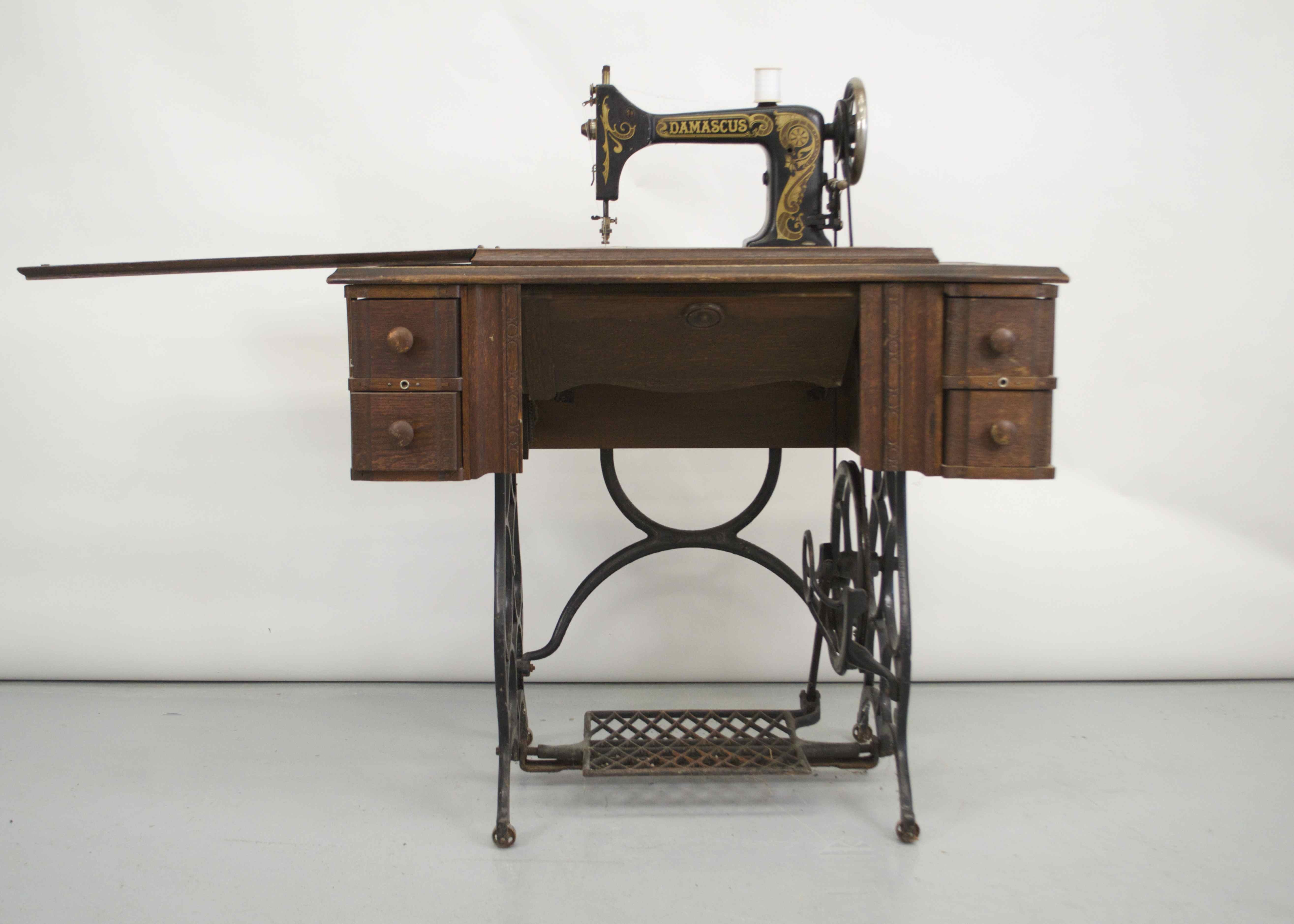 Antique Damascus Sewing Machine Table ...