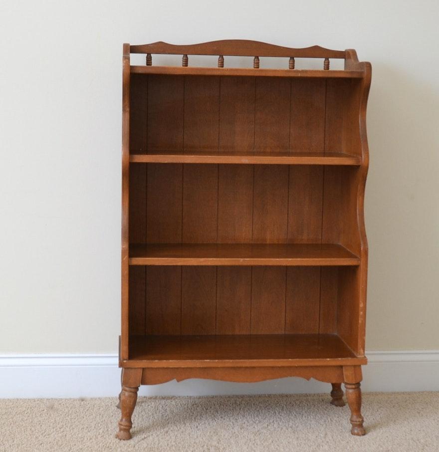 Vintage Wooden Bookcase ~ Vintage wooden bookcase ebth