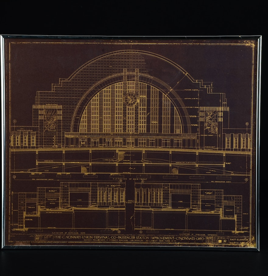 Print Of 1931 Architectural Drawings Of Union Terminal