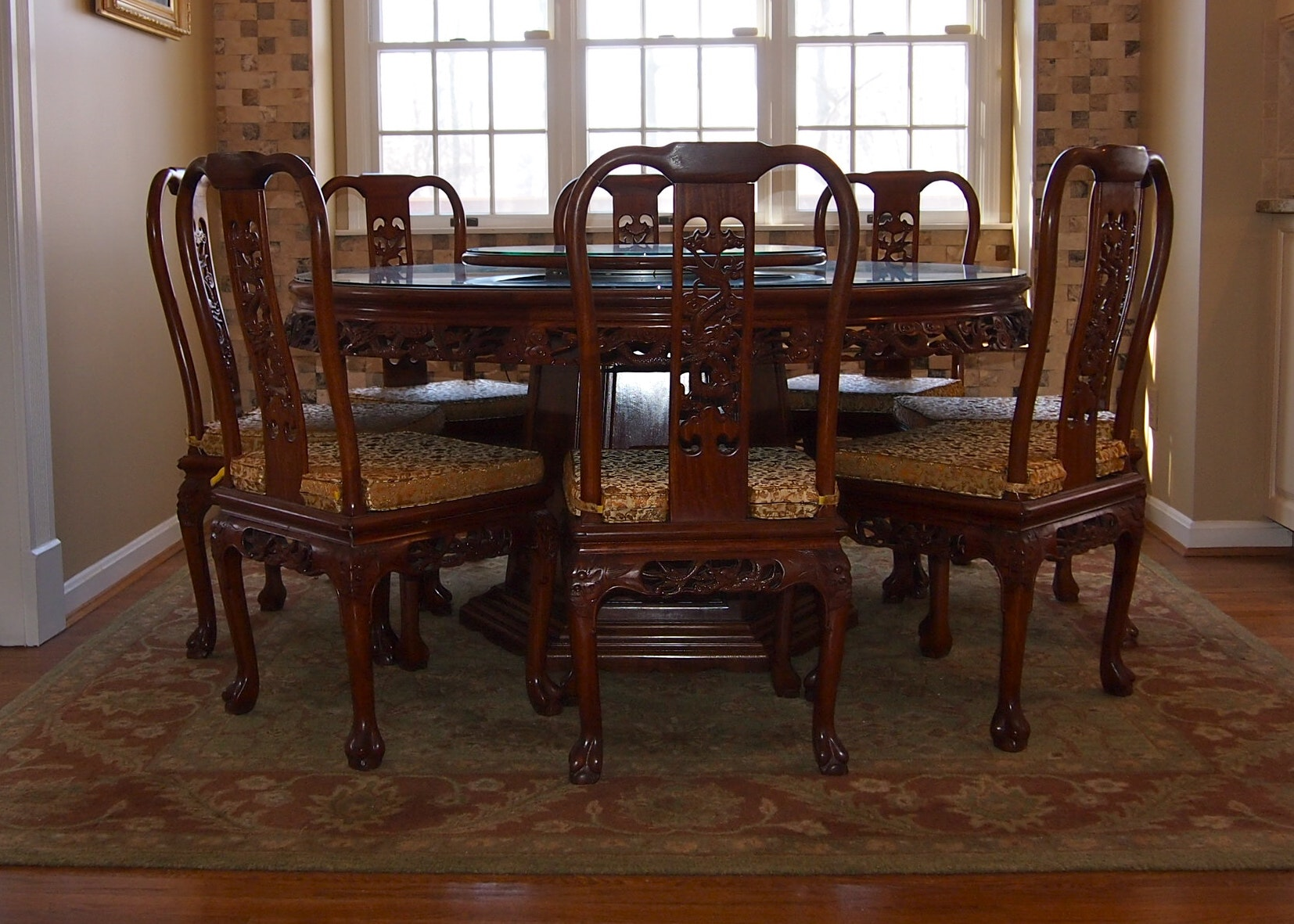 Chinese Imperial Dragon Dining Set