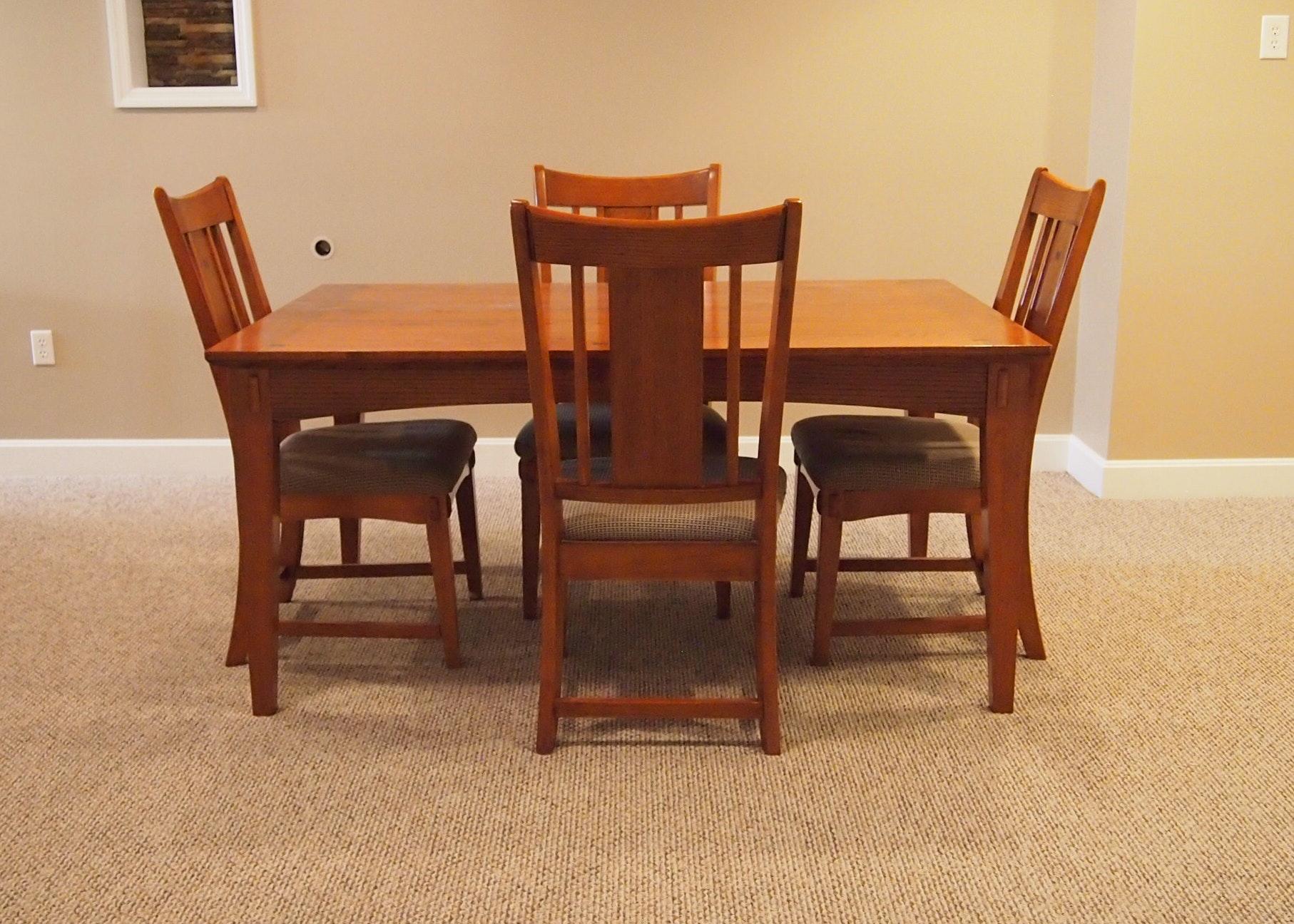 Oak Mission Style Dining Set