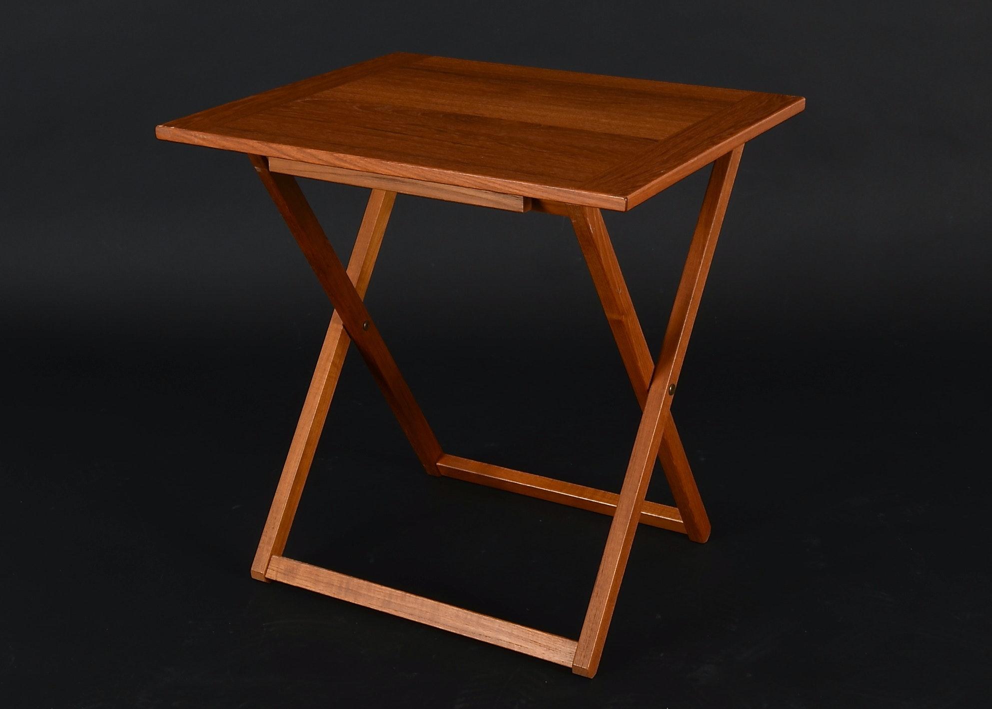 Ansager Mobler A S Danish Teak Folding Table EBTH