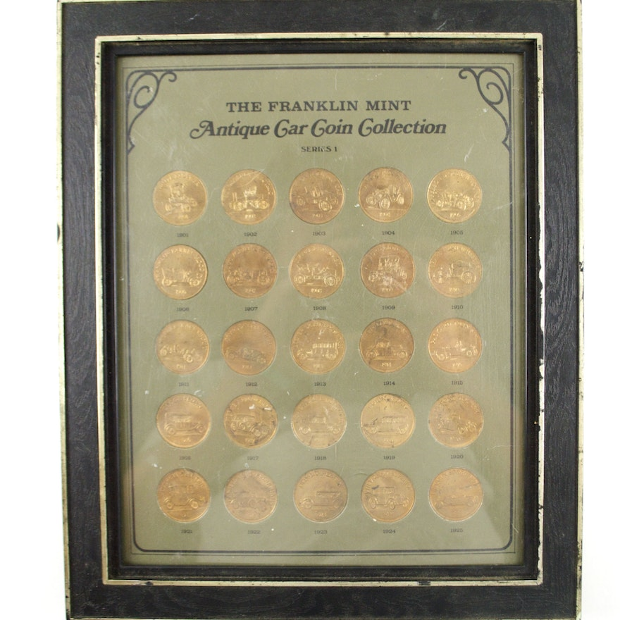 Franklin Mint Antique Car Coin Collection Series 1