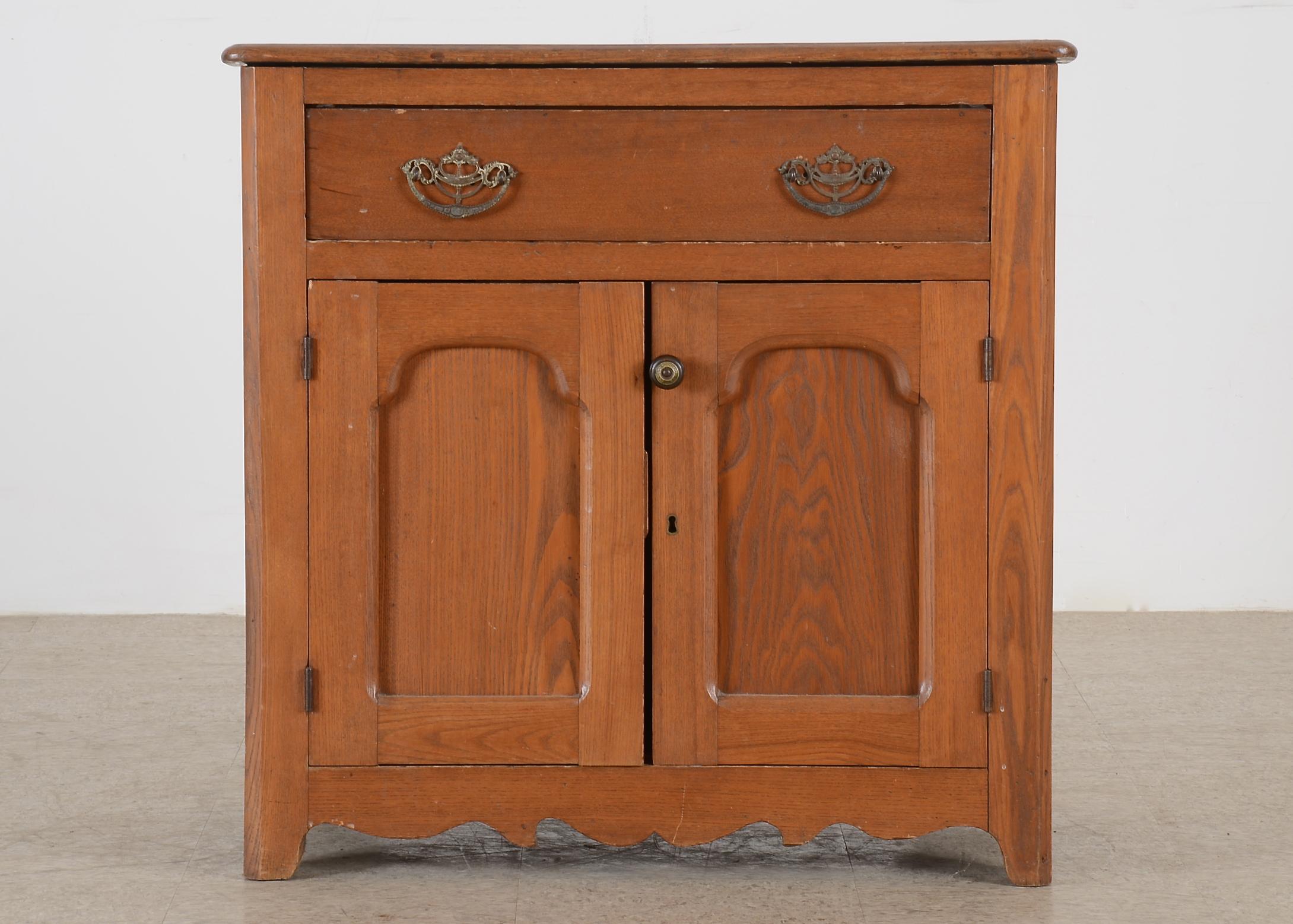 Antique Oak Dry Sink Cabinet : EBTH