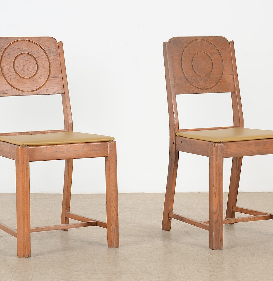 Dining Room Manufacturers: Pair Of Kuehne Manufacturing Co. Dining Room Chairs : EBTH