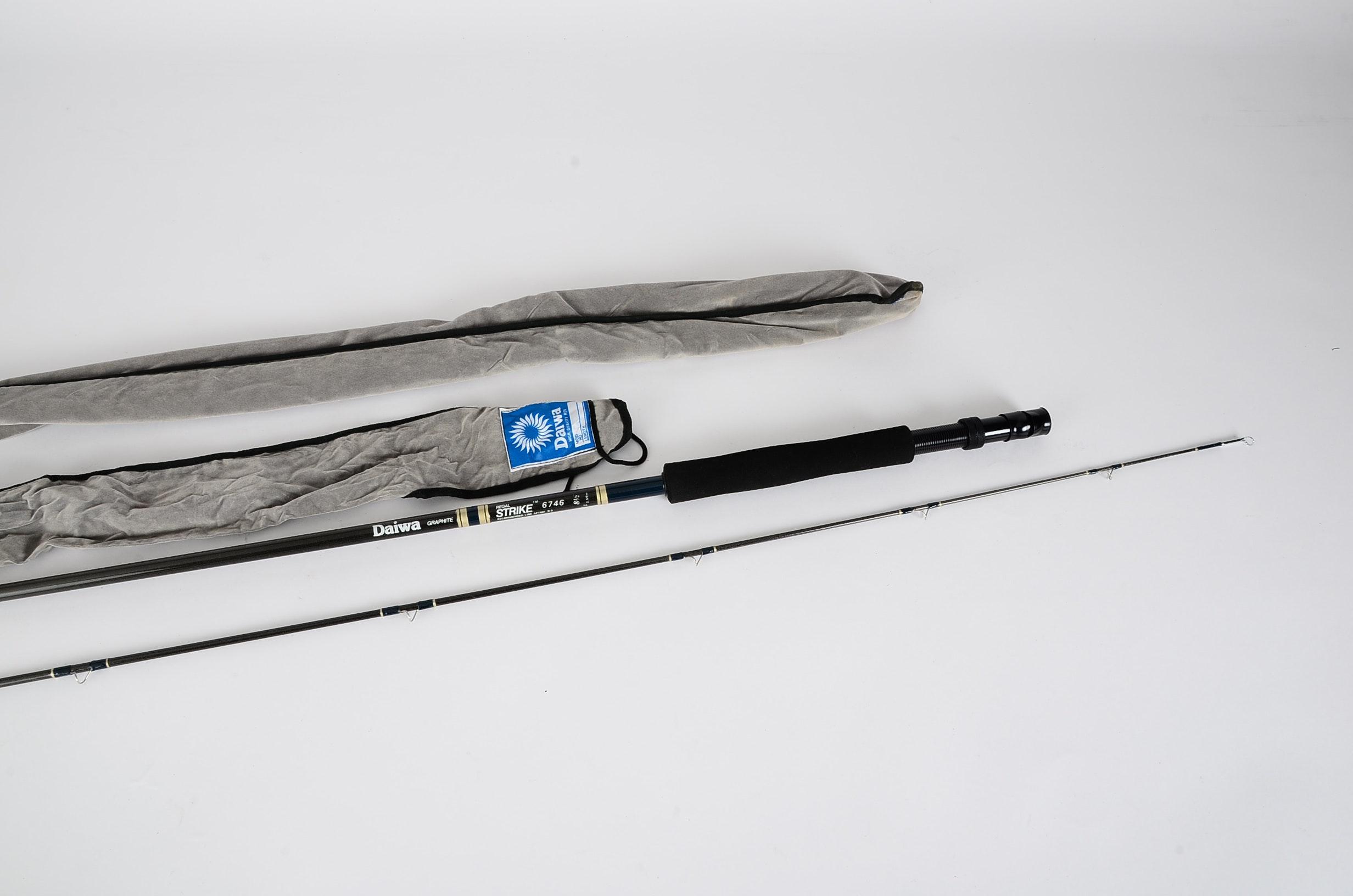 Two Daiwa Graphite Regal Strike Fly Fishing Rods